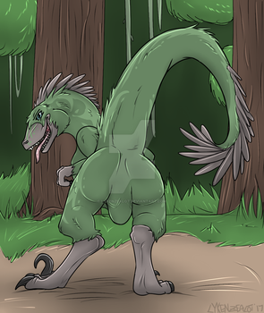 Raptor Butt! by LykenZealot