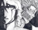 Ulquiorra and Grimmjow by Mnkycheese