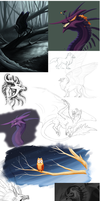 5 year sketchdump by nyface