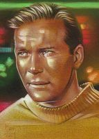 Captain Kirk - Sketch Card by JeffLafferty