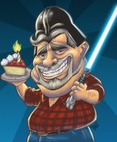 George Lucas - Star wars aniversary by GONZZO