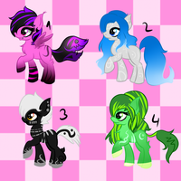 Pony Adoptables offer to adopt! by Sadistic-Lus