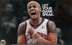 Carmelo Anthony Let Your Game Speak Wallpaper by IshaanMishra