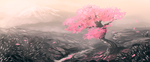 Weekly Speedpaint Challenge: Cherry Blossom by Tatchit