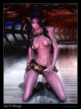 SciFi Pinup by vexiphne