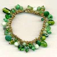 Green Beady Bracelet by Wabbit-t3h