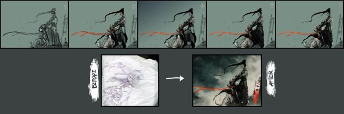 painting process by Roggles