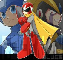RM Art trade:Protoman_Blues by RokusukeTanaka