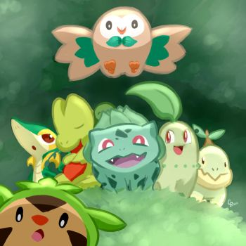 The Grass Starters! by GenerallPedro