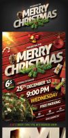 Christmas Party Flyer Template by saltshaker911