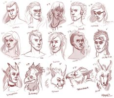 Character Sketches by RachelleFryatt