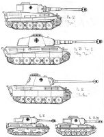 WWII German Tanks by SOS101