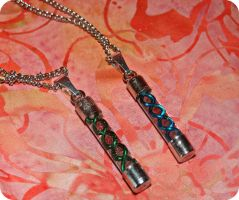 Resident Evil Virus Friendship Necklaces by TheGeekEmporium