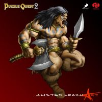 Puzzle Quest 2: Barbarian by Caveatscoti
