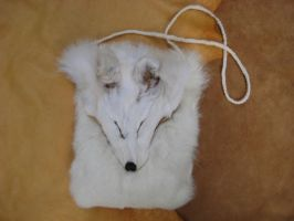 Arctic fox and rabbit pouch by lupagreenwolf