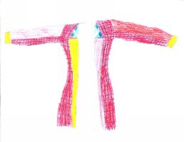 6th Doctor Coat Drawing--Front by darksporechild