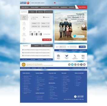 Turkish Airlines Web Site ReDesign by eskikitapci