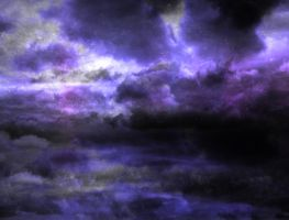 Purple Fantasy sky by Moonglowlilly
