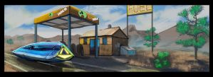 Gas Station by scorpionmonkey