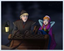 Frozen - sled ride by Loony-Lucy