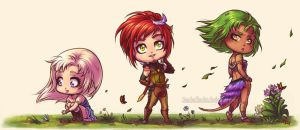 Trio de chibis by SandraCharlet