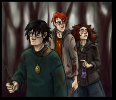 Deathly Hallows Trio by bridgioto