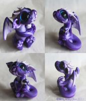 Injured Purple Baby Dragon Collage by BittyBiteyOnes