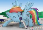 Boarding to Rainbow Air by made-in-donuts