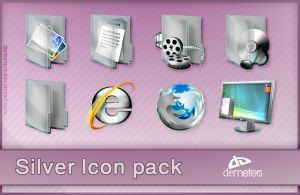Silver Icon Pack by demeters