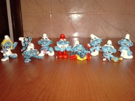 Walking dead smurfs by mutantsmurf