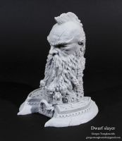Dwarf Slayer bust work 2014 by giolord11