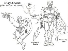 Ultimate Defenders: Nighthawk by Kagehiisa