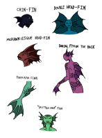 Fairy Tale Rejects Concept Art: Mermaid Head Fins by Jakegothicsnake