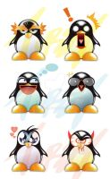 crazy penguins by Tursy