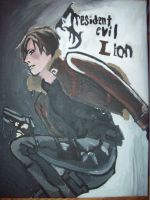 Resident Evil 4 Leon painting by f117lionhartgordon