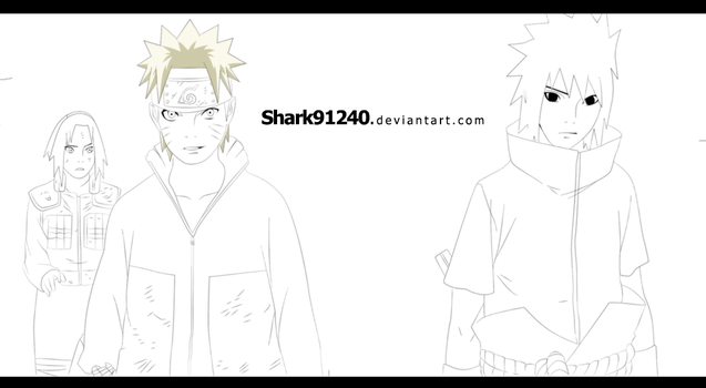 WIP - Naruto and Sasuke - 631 by Shark91240