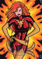 Dark Phoenix Sketch Card by ElainePerna