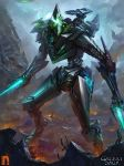 The alien Warrior by Drock-Nicotine