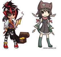Gaia Chibi Commissions by MageKnight