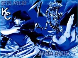 Kaiba and Blue Eyes Wallpaper by AESD