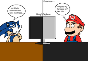 Remake: Sonic Discovers His Fanbase by AfroOtaku917