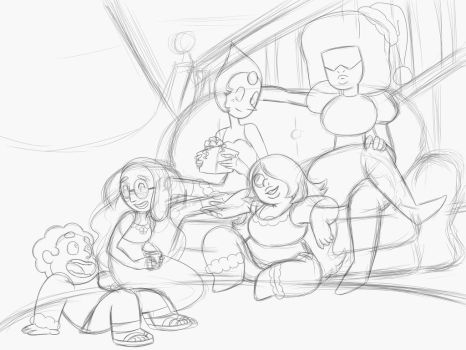WIP Upload: Steven Universe Christmas 2014 by AndrewKyleSmith