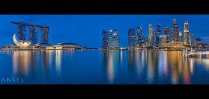 Marina Bay Singapore Twilight by Draken413o