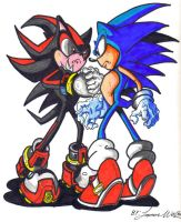 sonic vs shadow by trunks24