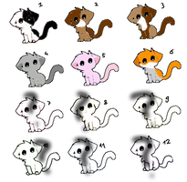 Cute Kitten Adopts And Mystery Adopts by mermaidgirl013
