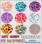 PATTERN SET 005 - Confetti by AndreeaArsene