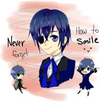 NEVER forget how to SMILE ^-^ by devious-riceball