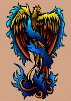 Phoenix tattoo 2 by xAli-xX