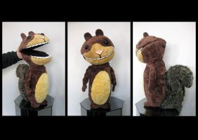 Scaredy the Squirrel -puppet by Minnu