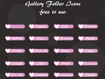 Heart Gallery Folder Icons -free to use- by chabbix